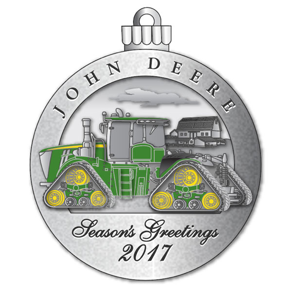 John Deere Limited Edition 2017 Pewter Christmas Ornament  22nd