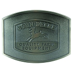 John Deere Vintage Logo Pewter Belt Buckle - LP66170