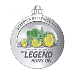 John Deere Limited Edition 2018 Pewter Christmas Ornament - 23rd in Series - LP70226