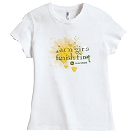 John Deere Junior-Cut Farm Girls Finish First T-Shirt - ST101321