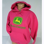 John Deere Ladies' Gildan Heavy Blend Hot Pink Hoodie - STHPH