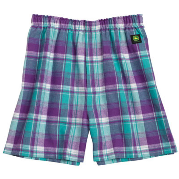 John Deere Green and Gold Flannel Boxers - STJohn Deere Green and Gold Flannel Boxers Features: Cotton flannel Exposed elastic band False fly Center back seam Medium insean Roomy fit Machine wash Green/Gold plaid Select size above5/5(1).