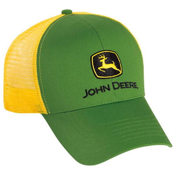 John Deere Cloth Mesh Cap - LP43423 d8bd7de3a0aa