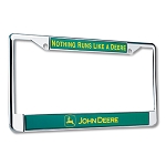 John Deere Chrome License Plate Frame - JD02575