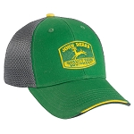 John Deere Chino Gray Mesh Back Cap - 249777