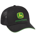 John Deere Black Chino / Mesh Back Cap - LP69079