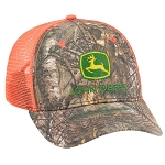 John Deere Realtree APX / Blaze Orange Mesh Cap - LP69082