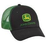 John Deere Black Front / Green Mesh Back Cap - LP69092