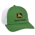 John Deere Green Chino White Mesh Cap - LP69108