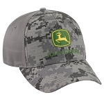 John Deere Charcoal Digi Camo Stretch Fit Cap - LP69116