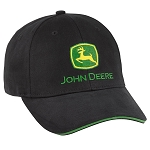 John Deere Black Stretch Fit Cap - LP69118