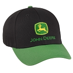 John Deere Black / Green Stretch Fit Performance Cap - LP69121