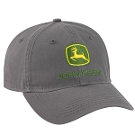 John Deere Washed Grey Twill Cap - LP69221