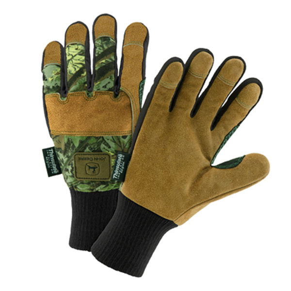 Nike Leather Gloves Jd: John Deere Men's Lined Camo Leather Glove