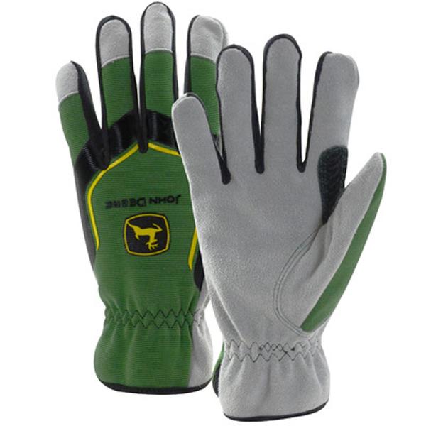 John Deere Gifts >> John Deere Men's Cowhide Glove with Spandex Back - LP67362 ...