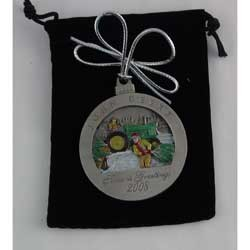 John Deere Limited Edition 2008 Pewter Christmas Ornament - 13th in Series