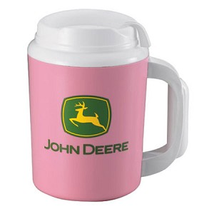 John Deere 34-oz Super Foam Pink Insulated Mug - JD04167