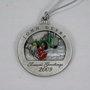 John Deere Limited Edition 2009 Pewter Christmas Ornament - 14th in Series - PMDCO2009
