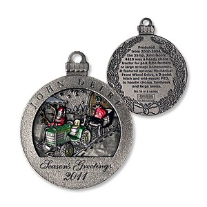 John Deere Limited Edition 2011 Pewter Christmas Ornament - 16th in Series - PMDCO2011