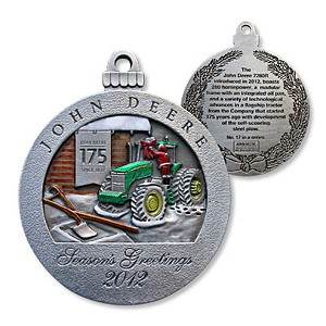 John Deere Limited Edition 2012 Pewter Christmas Ornament - 17th in Series - LP42057