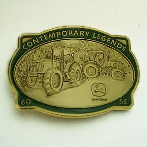John Deere Contemporary Legends Limited Edition 2009 Gold Belt Buckle 6D and 5E Tractors - JP1411