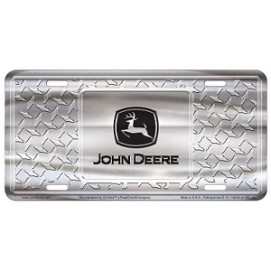 John Deere Diamond Plate License Plate - 055011