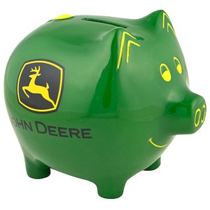 John Deere Green Piggy Bank - 6921