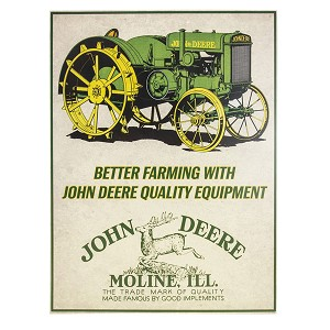 John Deere Better Farming Tin Sign - 6886