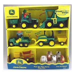 John Deere Big Red Barn Fun On The Farm 4-Vehicle Playset - 34984
