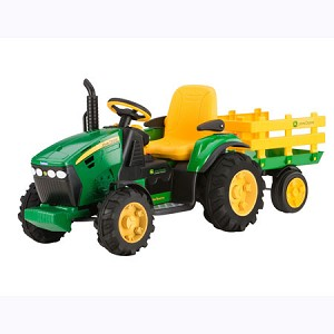 john deere 12 volt battery operated ground force tractor with wagon 35890