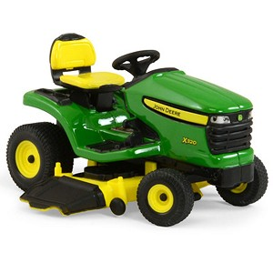 John Deere 1:16 scale Toy X320 Lawn Mower - TBE45484