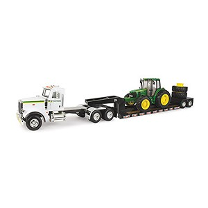 Big Farm 1/16 scale model Semi with Trailer and 7430 John Deere Tractor - 46624