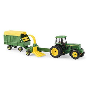 John Deere 1:64 4960 Tractor with Forage Harvester and Wagon - 45589