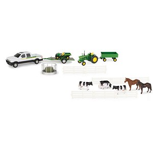 John Deere 1:32 scale Toy 20 Piece Value Set - 46683