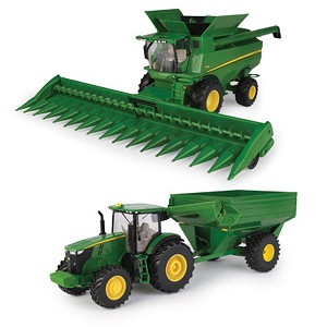 John Deere 1:32 scale Toy Corn Harvesting Set - 46677