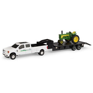 John Deere 1:64 scale 530 Tractor with F350 Pickup and Trailer - 45651