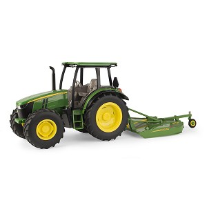 John Deere 1:16 scale 5125R Tractor with MX7 Rotary Cutter - 45652