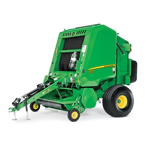 John Deere 1:32 scale Toy 560R Round Baler with Bale - 45696