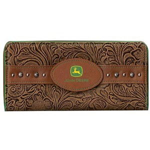 John Deere Ladies Embossed Floral Wallet - 4064000
