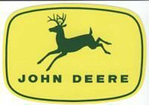John Deere 4-Leg Leaping Deere Decal 16.618-in x 11.75-in - JD5259