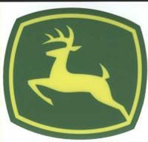 John Deere Leaping Deere 2000 Trademark Logo Decal 3.551-in x 3.228-in - JD5808