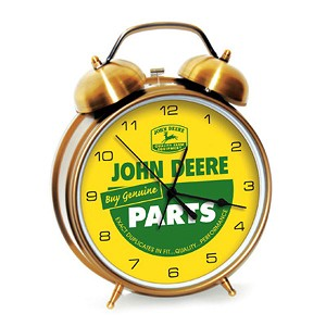 John Deere Genuine Parts Large Twin Bell Alarm Clock - LP51447