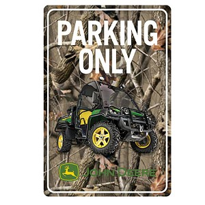 John Deere Embossed Metal Gator Parking Sign - LP63758