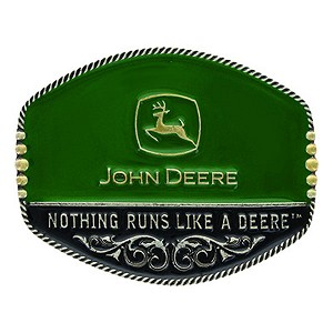 John Deere Green and Black Filigree Logo Belt Buckle - LP65669