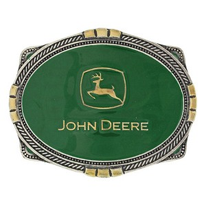 John Deere Green Rope Logo Attitude Belt Buckle - LP68088