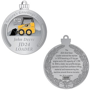 John Deere Limited Edition 2020 Pewter Christmas Ornament - 25th in Series - LP76689