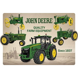 John Deere Collage Embossed Sign - LP69366