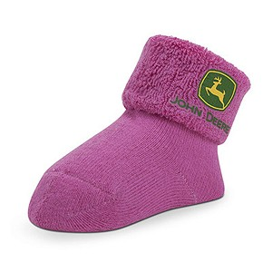 John Deere Infant Pink Cuff Socks - LP51266 - LP51267