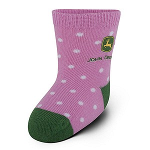 John Deere Infant Crew Socks Pink and Green - LP51278 - LP51279