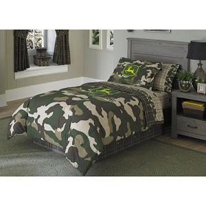 John Deere Camo Pattern Bed Skirt Dust Ruffle 60059